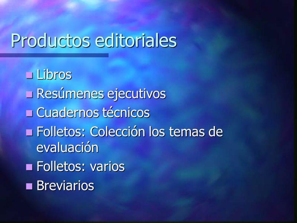 Productos editoriales