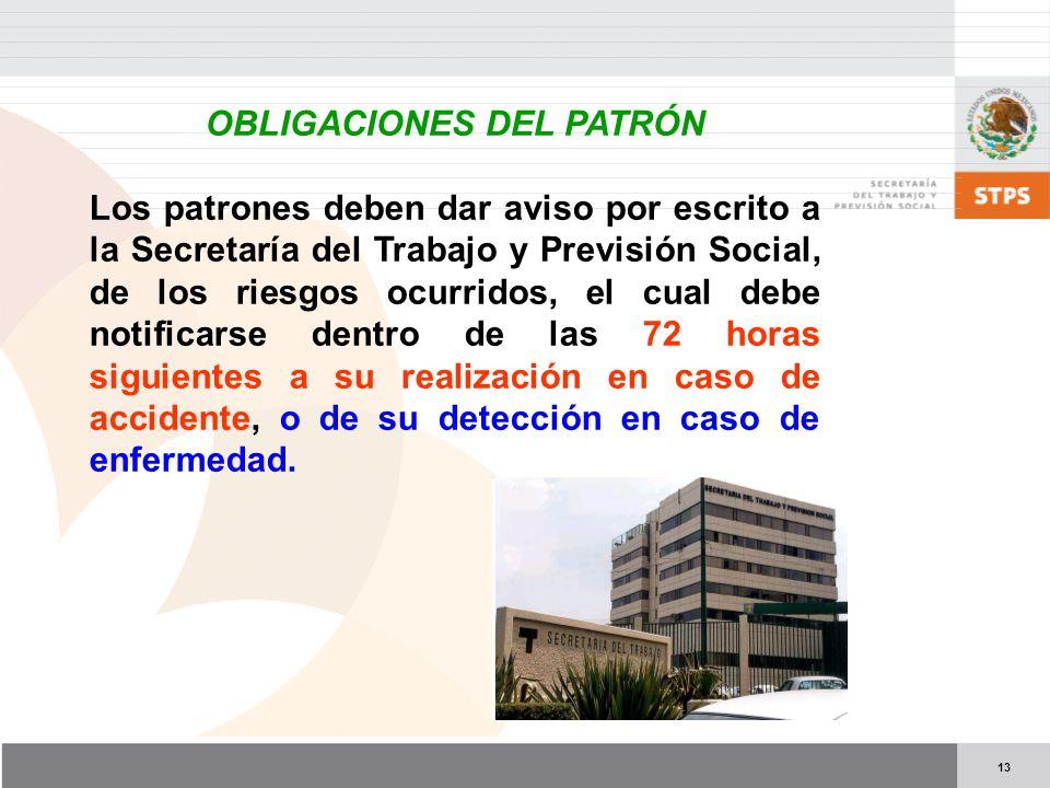 OBLIGACIONES DEL PATRÓN