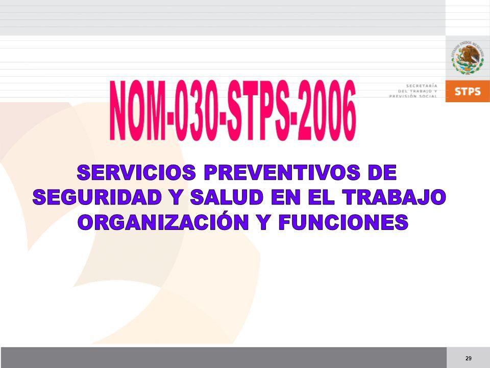 NOM-030-STPS-2006 SERVICIOS PREVENTIVOS DE