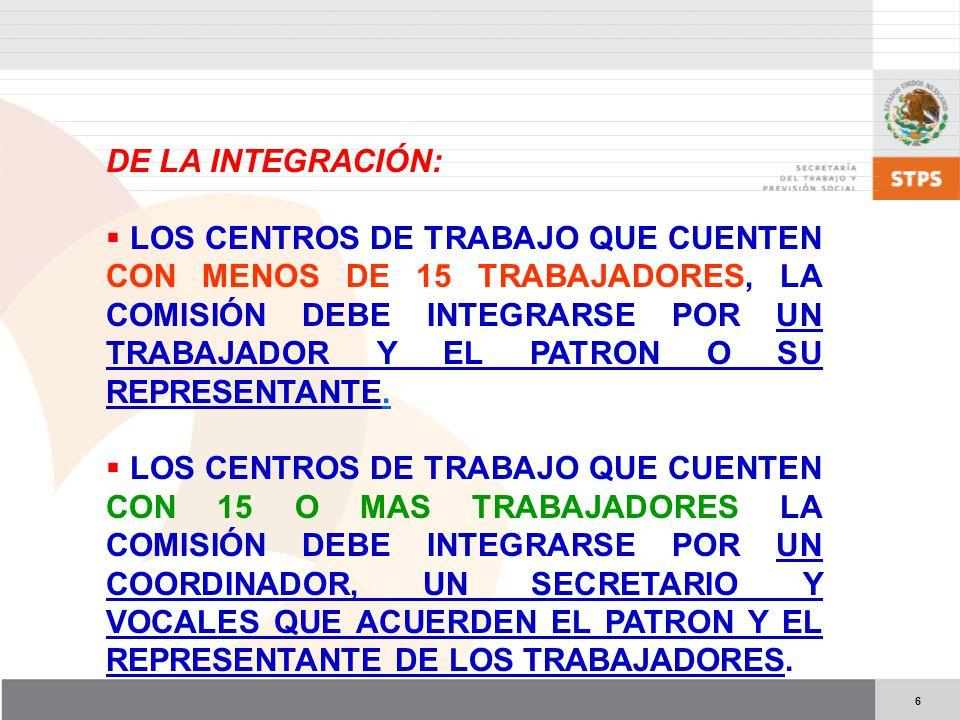 DE LA INTEGRACIÓN: