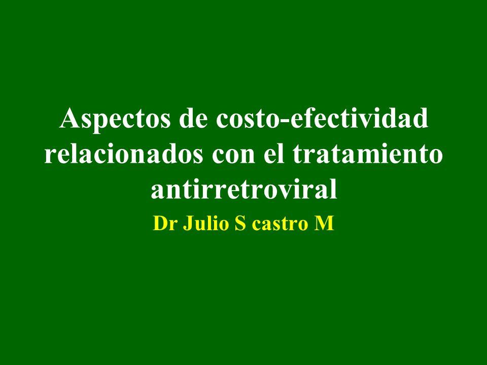 Aspectos de costo-efectividad relacionados con el tratamiento antirretroviral