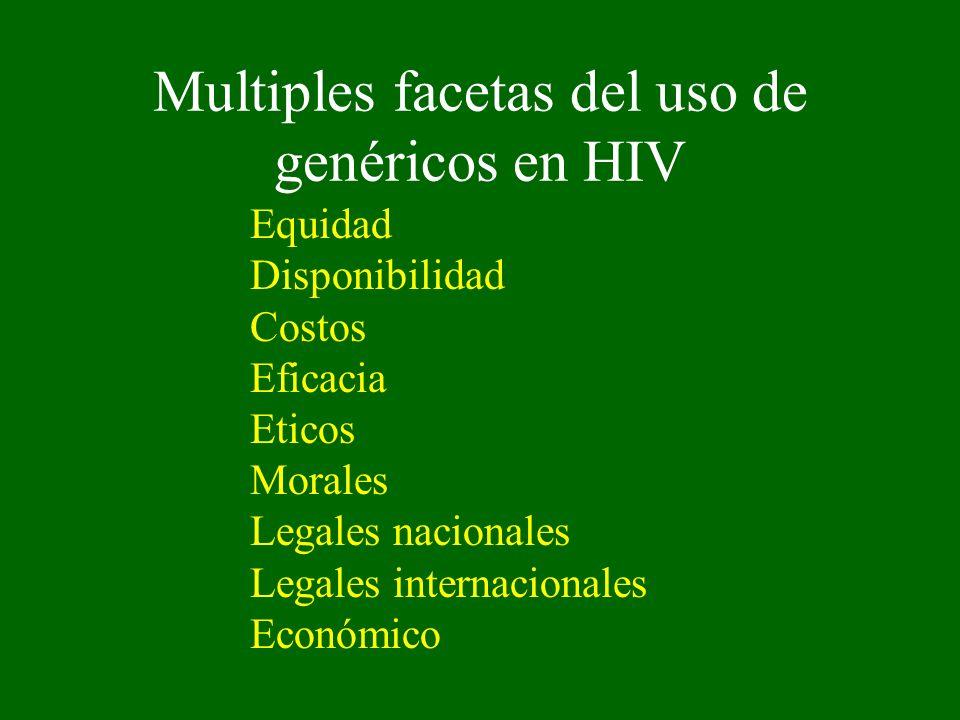 Multiples facetas del uso de genéricos en HIV