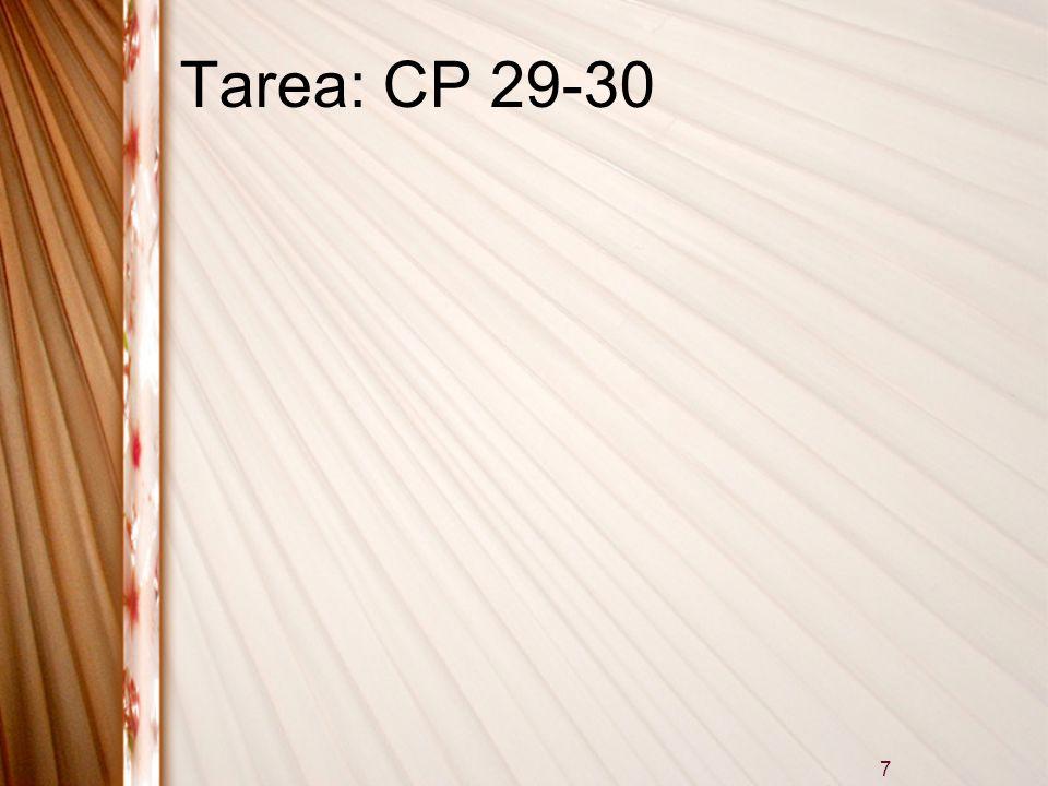 Tarea: CP 29-30