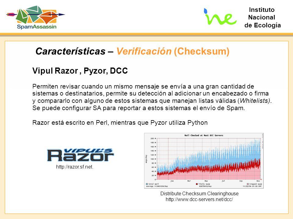 Características – Verificación (Checksum)