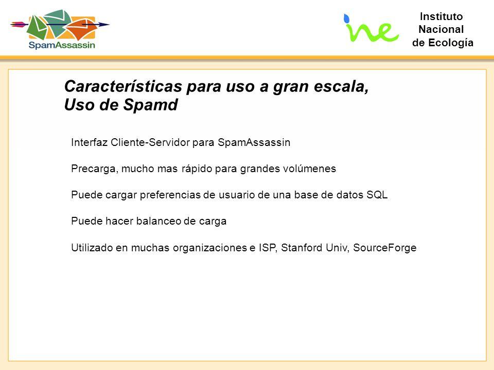 Características para uso a gran escala, Uso de Spamd