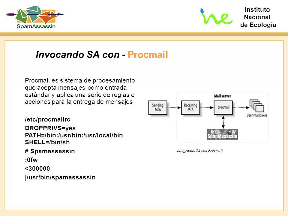 Invocando SA con - Procmail