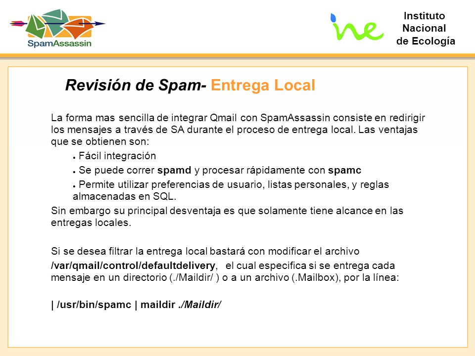 Revisión de Spam- Entrega Local