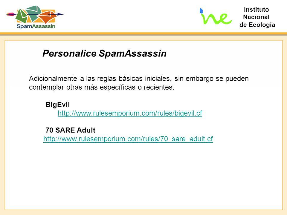 Personalice SpamAssassin