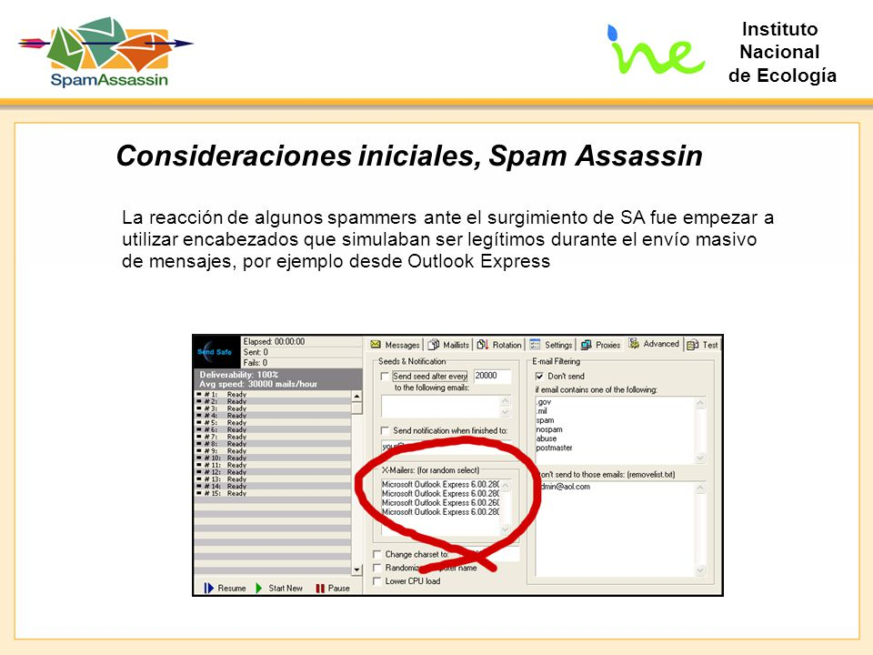 Consideraciones iniciales, Spam Assassin