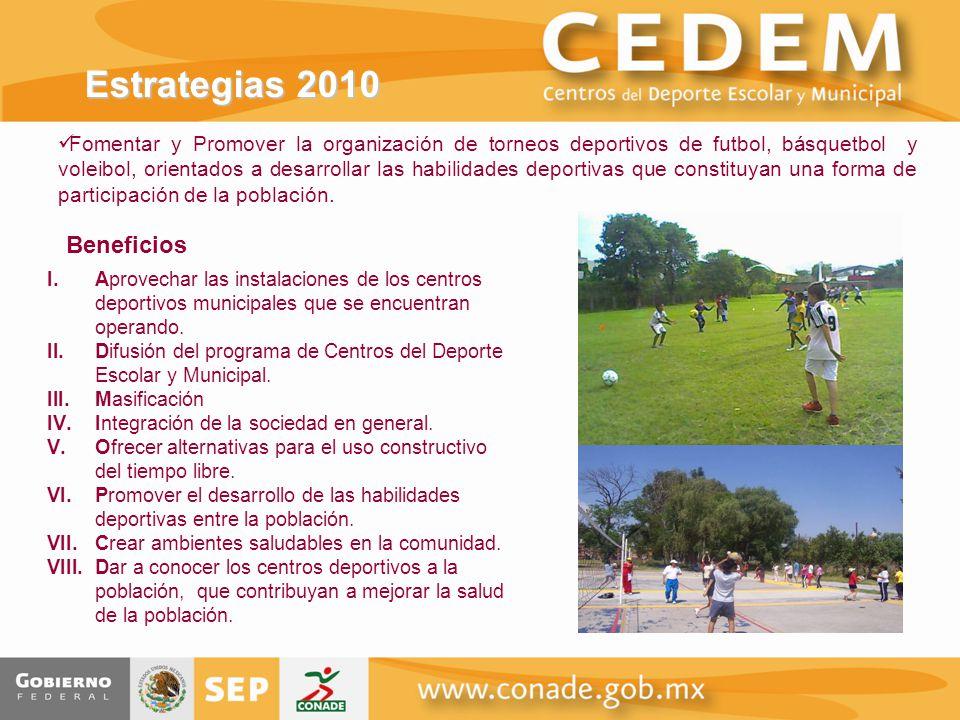 Estrategias 2010 Beneficios