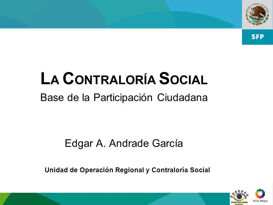 Unidad de Operación Regional y Contraloría Social