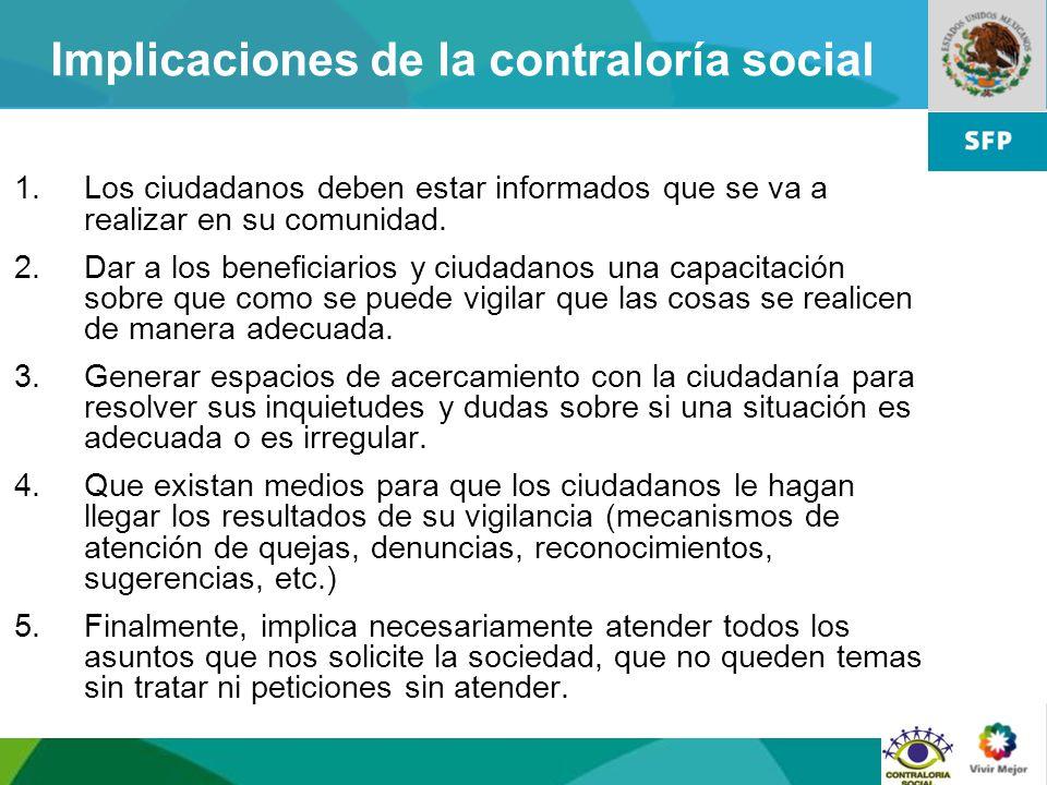 Implicaciones de la contraloría social