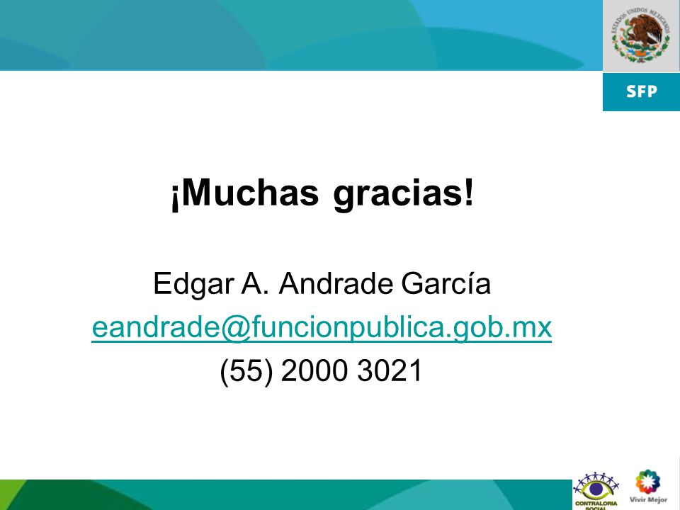 ¡Muchas gracias! Edgar A. Andrade García
