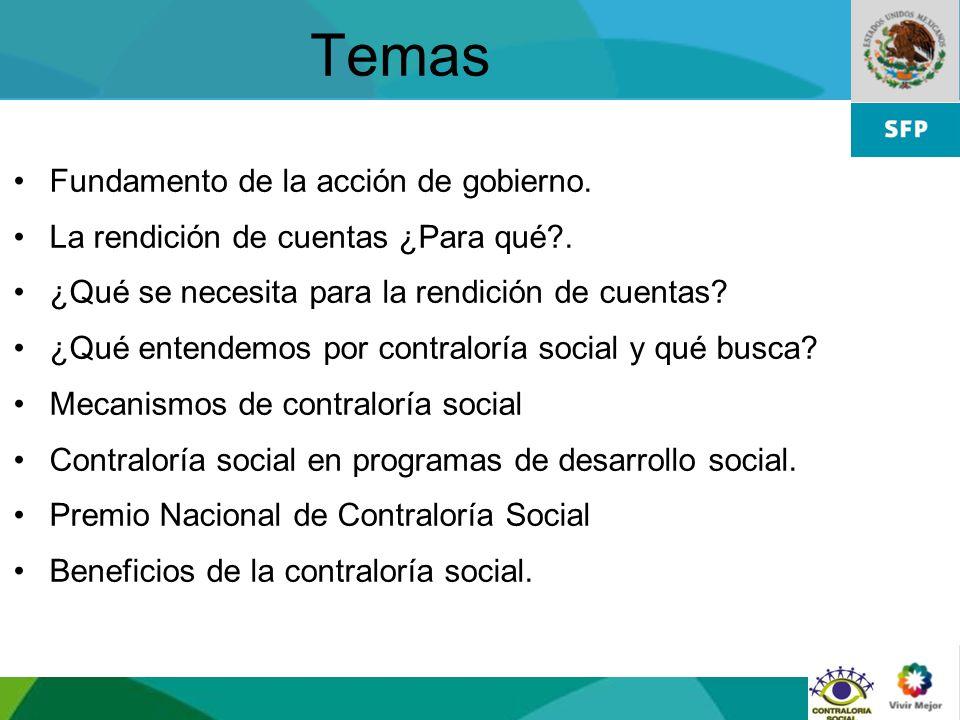 Temas Fundamento de la acción de gobierno.