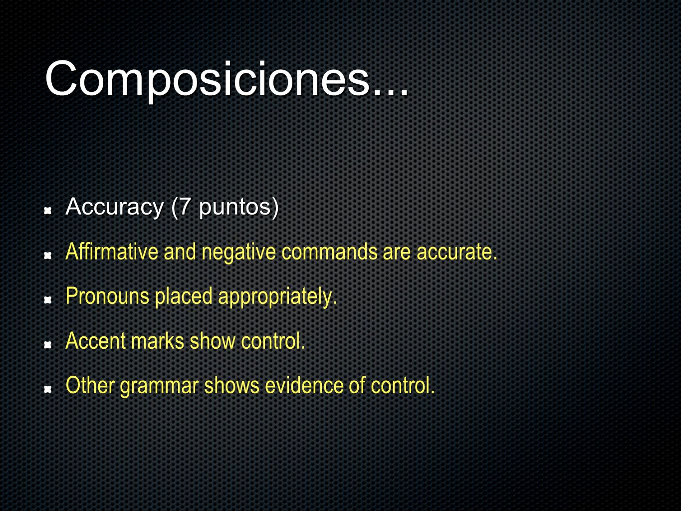 Composiciones... Accuracy (7 puntos)
