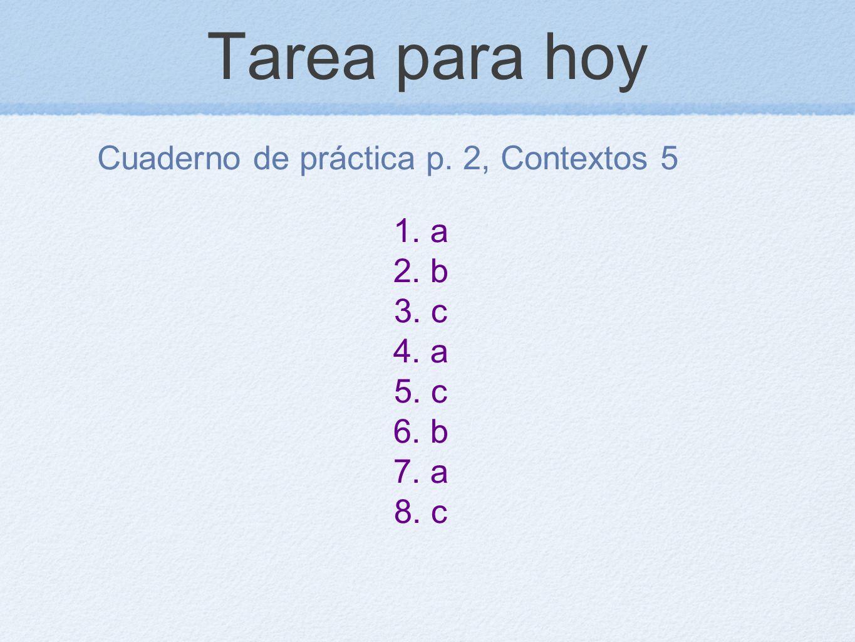 Cuaderno de práctica p. 2, Contextos 5
