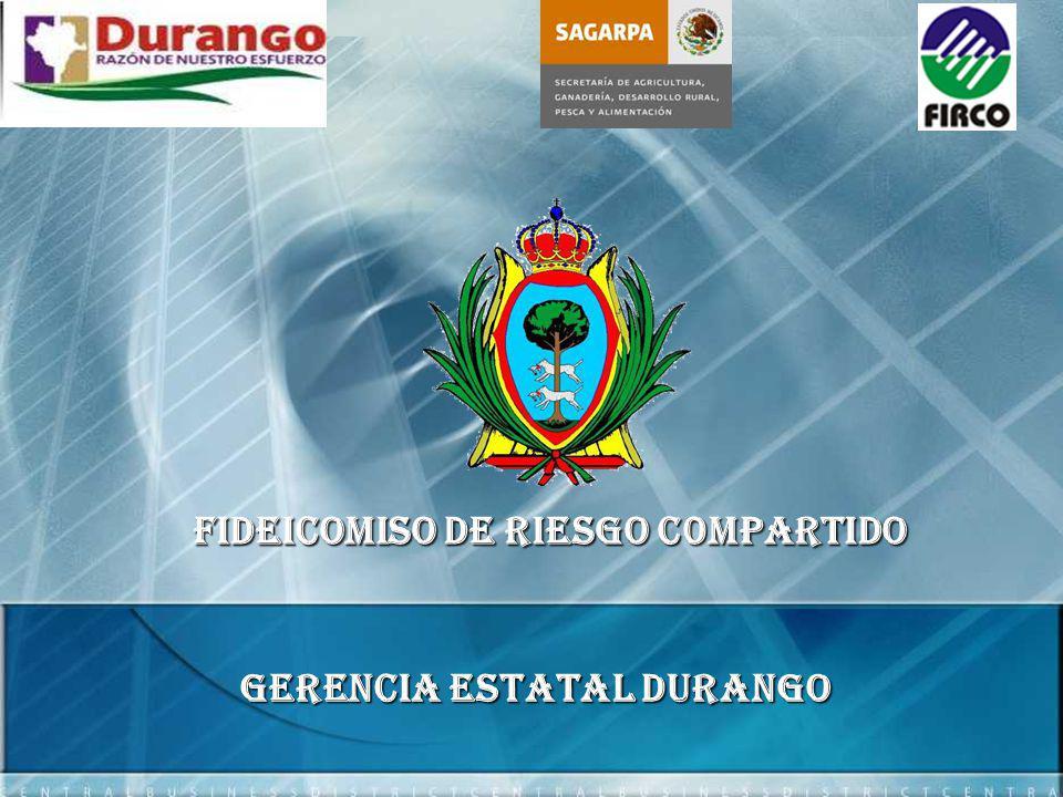 FIDEICOMISO DE RIESGO C0MPARTIDO Gerencia Estatal DURANGO