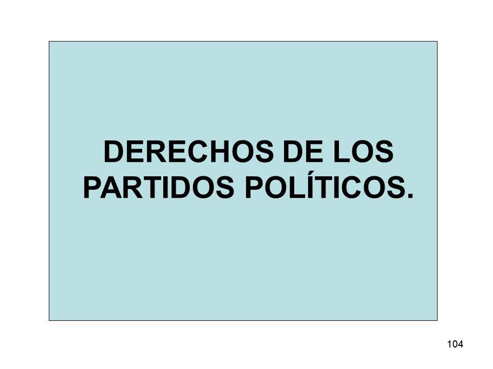 DERECHOS DE LOS PARTIDOS POLÍTICOS.