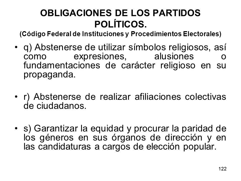 r) Abstenerse de realizar afiliaciones colectivas de ciudadanos.