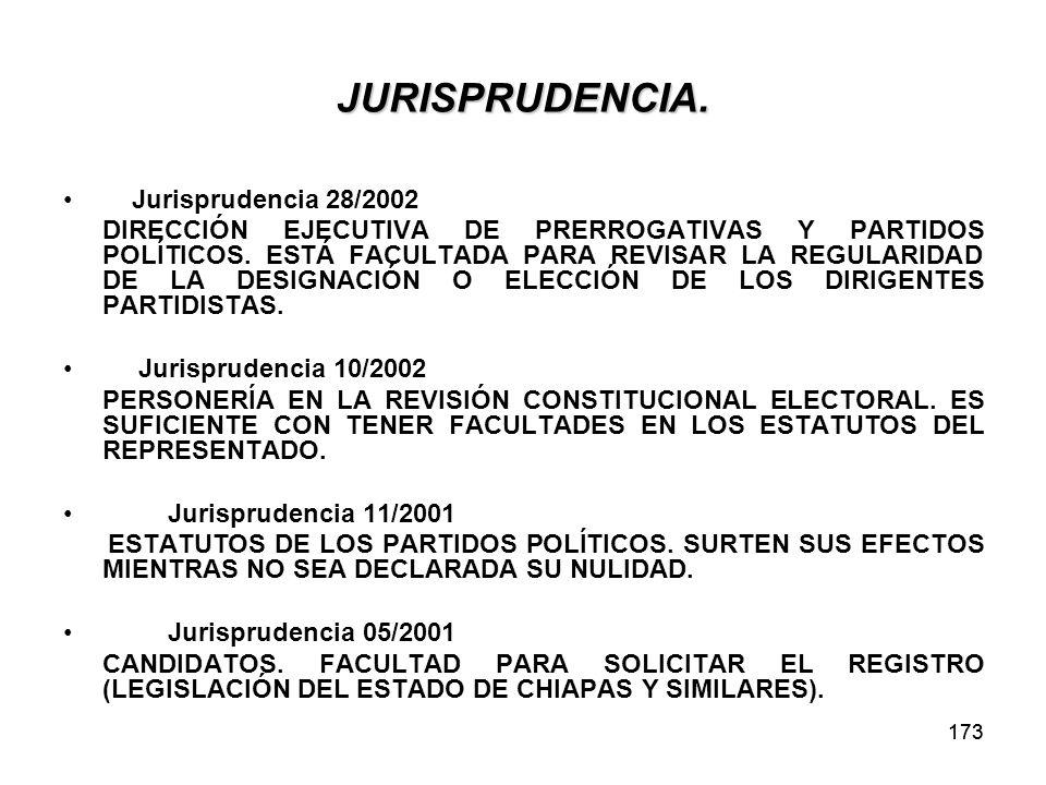 JURISPRUDENCIA. Jurisprudencia 28/2002