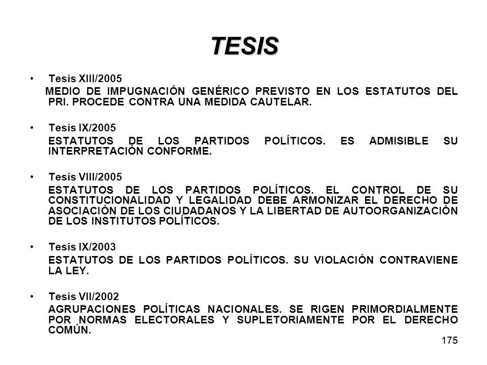 TESIS Tesis XIII/2005. MEDIO DE IMPUGNACIÓN GENÉRICO PREVISTO EN LOS ESTATUTOS DEL PRI. PROCEDE CONTRA UNA MEDIDA CAUTELAR.