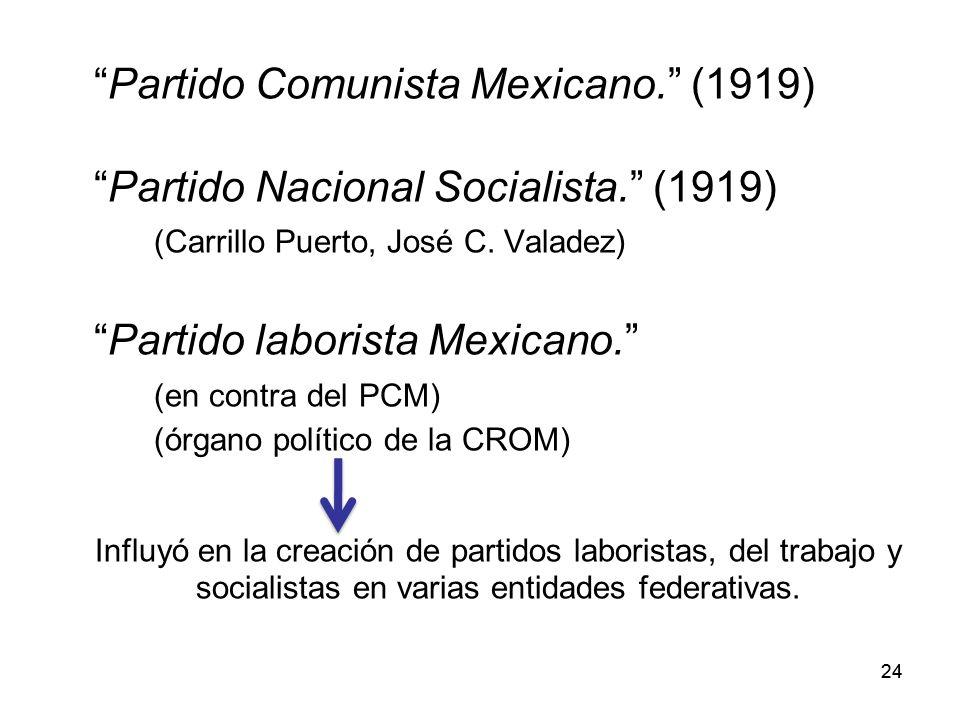 Partido Comunista Mexicano. (1919)