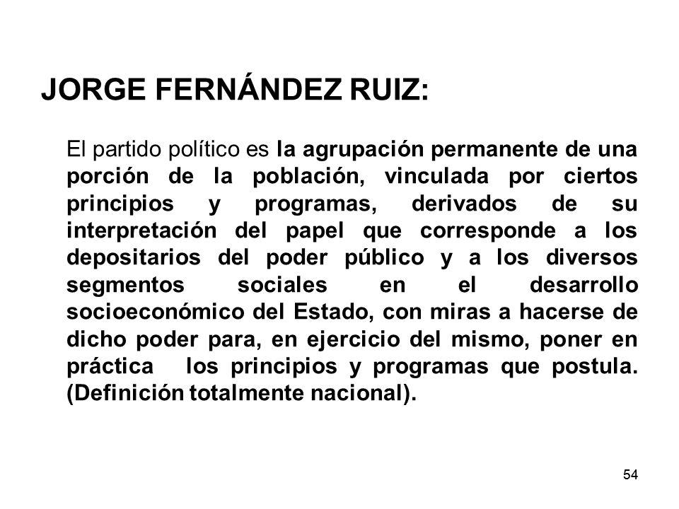 JORGE FERNÁNDEZ RUIZ:
