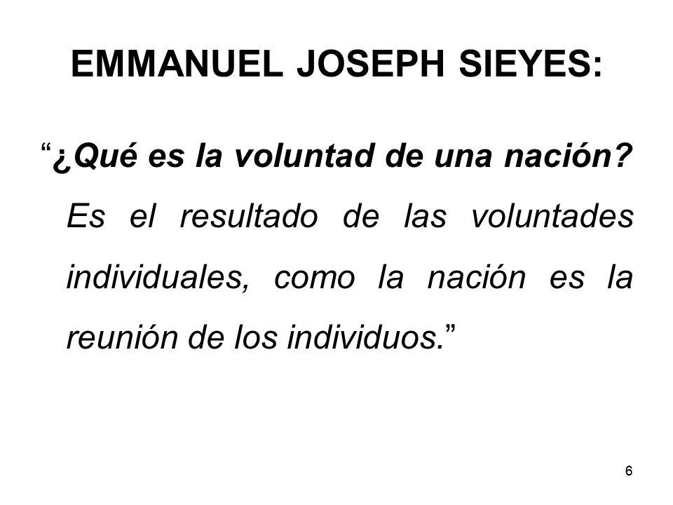 EMMANUEL JOSEPH SIEYES:
