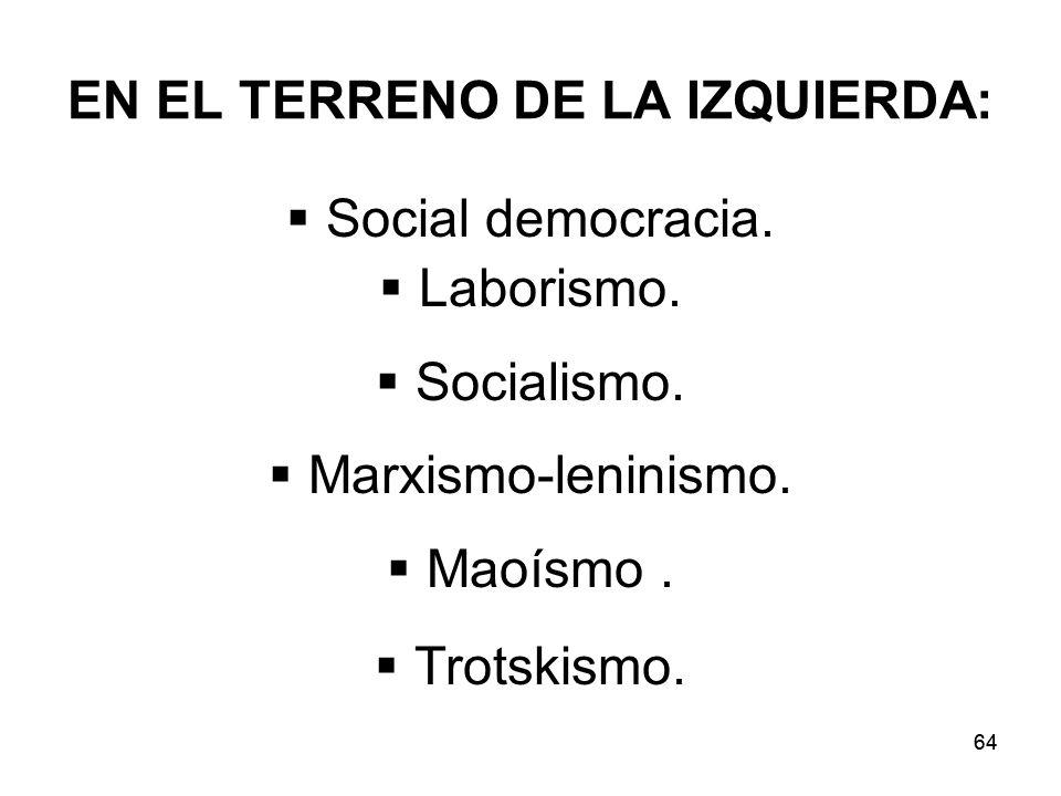 EN EL TERRENO DE LA IZQUIERDA: