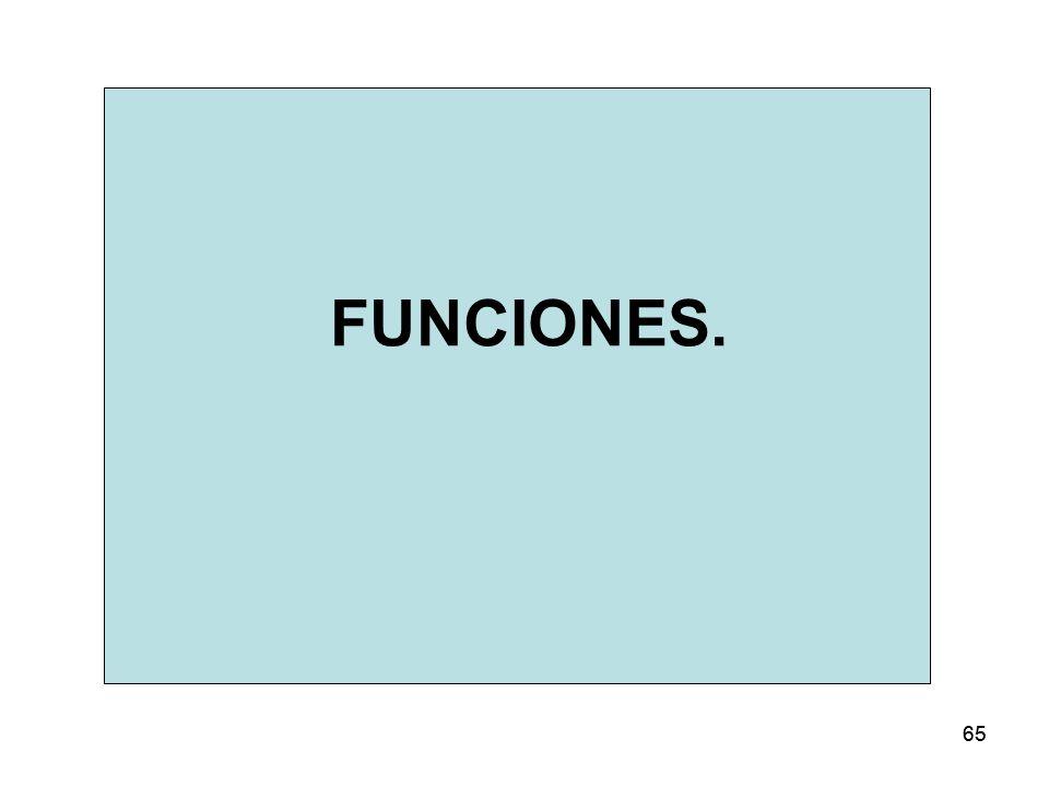 FUNCIONES. 65