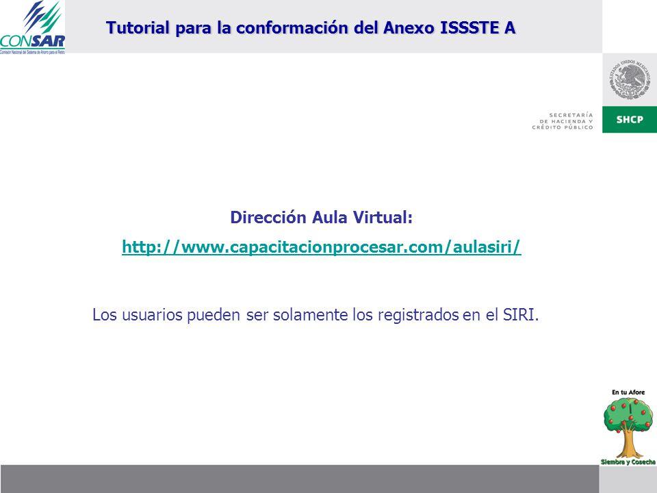 Tutorial para la conformación del Anexo ISSSTE A