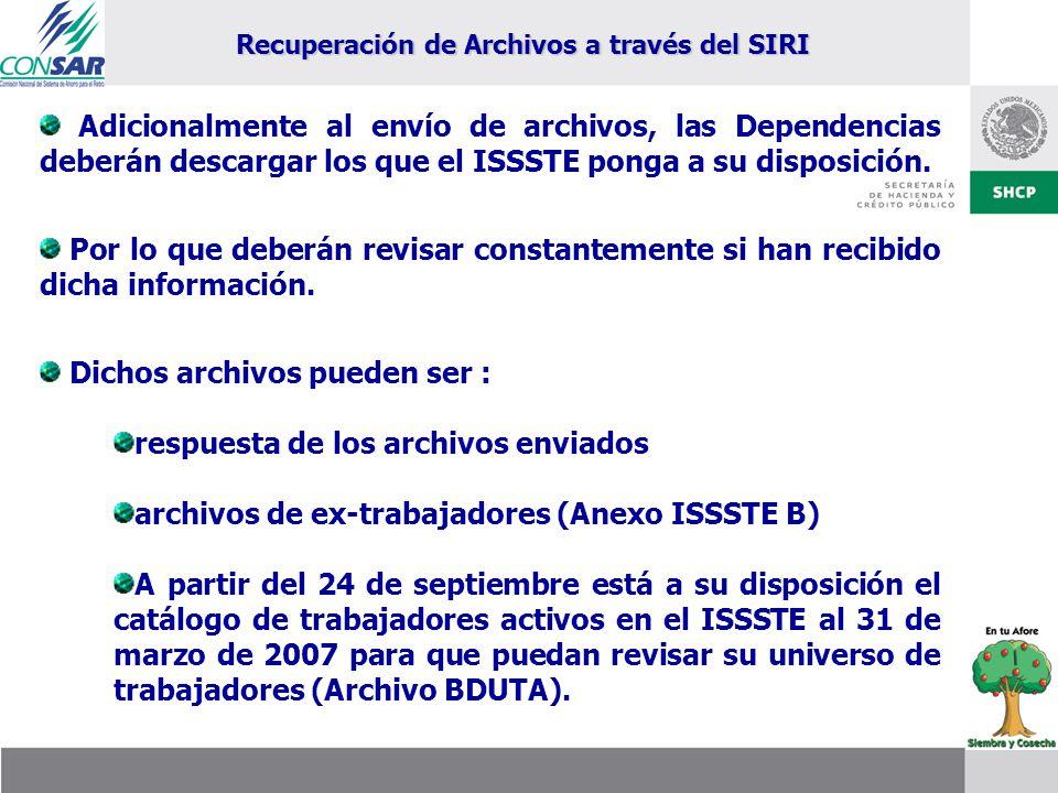 Recuperación de Archivos a través del SIRI