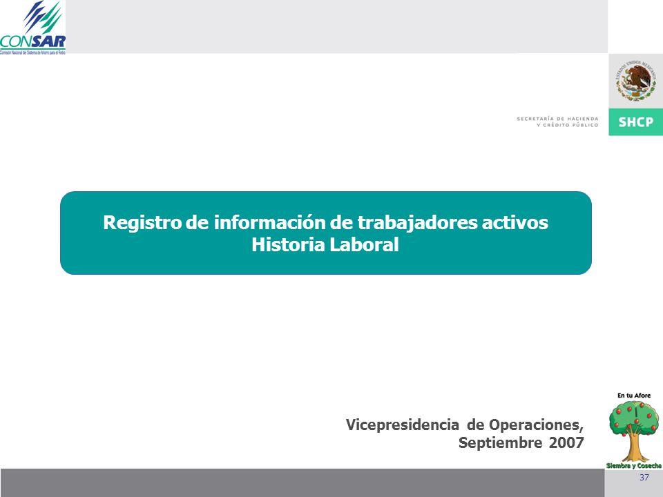 Registro de información de trabajadores activos