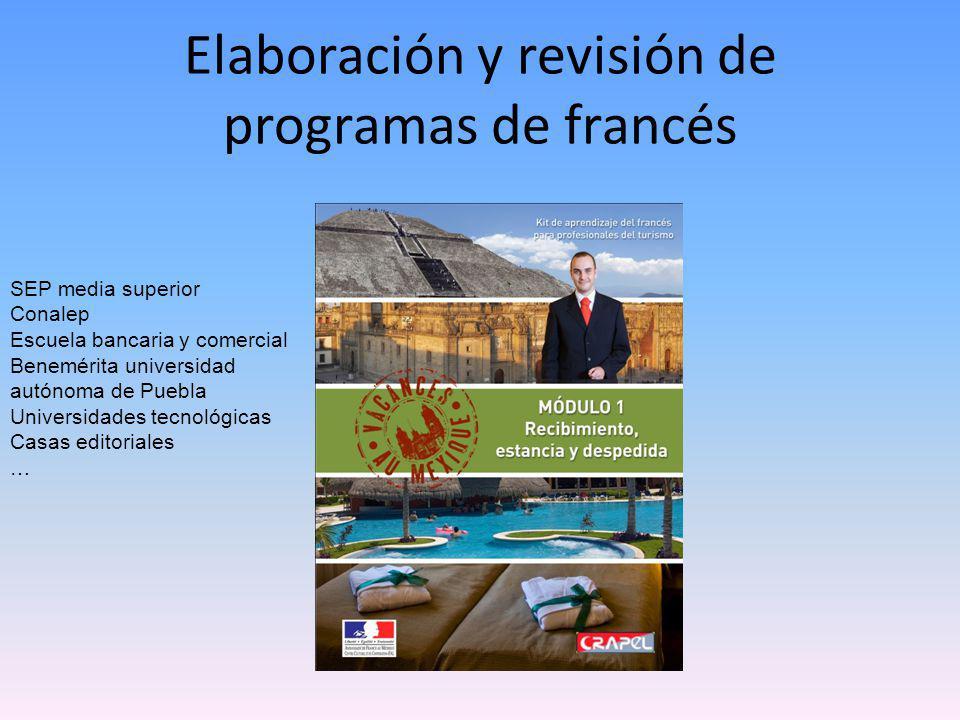Elaboración y revisión de programas de francés