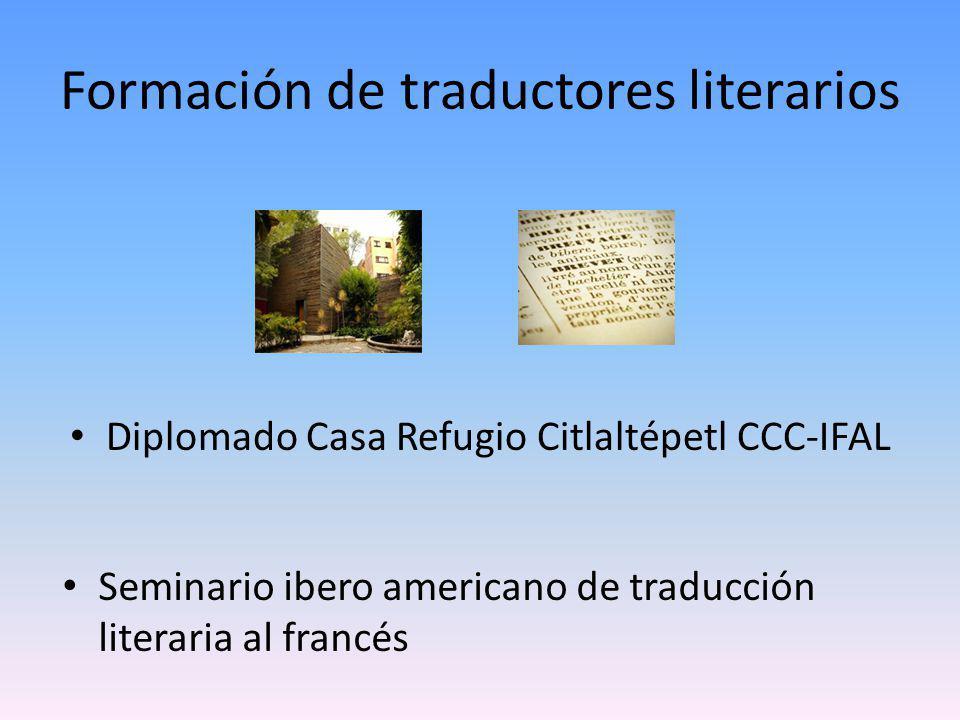 Formación de traductores literarios