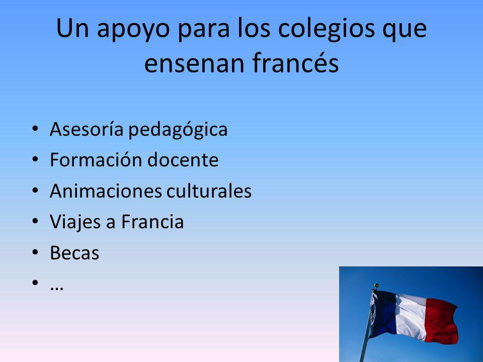 Un apoyo para los colegios que ensenan francés