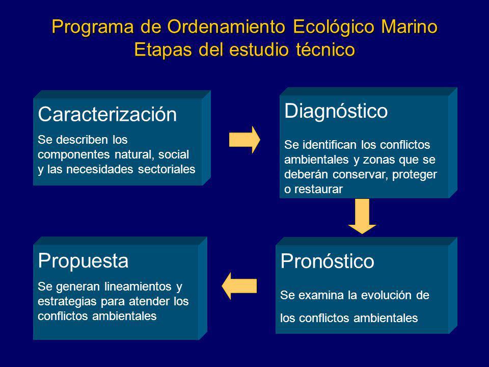 Programa de Ordenamiento Ecológico Marino Etapas del estudio técnico