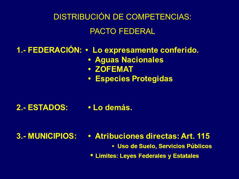 DISTRIBUCIÓN DE COMPETENCIAS: