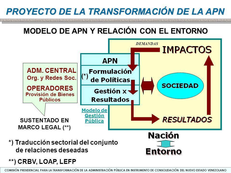 MODELO DE APN Y RELACIÓN CON EL ENTORNO