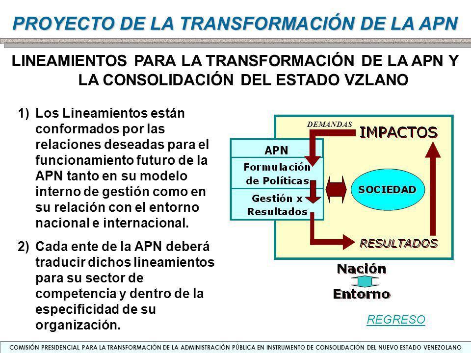 LINEAMIENTOS PARA LA TRANSFORMACIÓN DE LA APN Y LA CONSOLIDACIÓN DEL ESTADO VZLANO