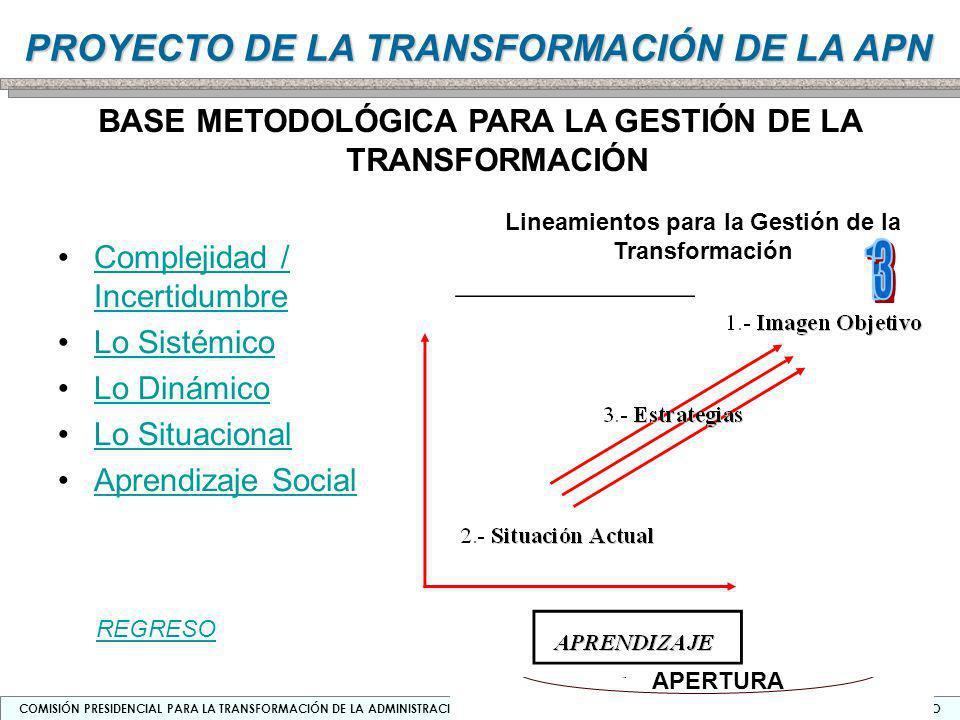 Lineamientos para la Gestión de la Transformación
