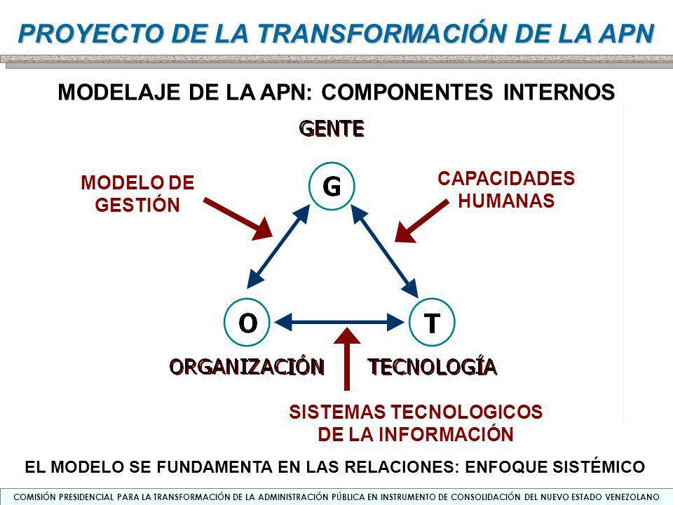 MODELAJE DE LA APN: COMPONENTES INTERNOS