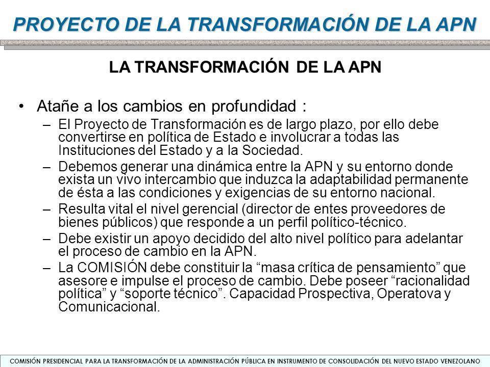 LA TRANSFORMACIÓN DE LA APN