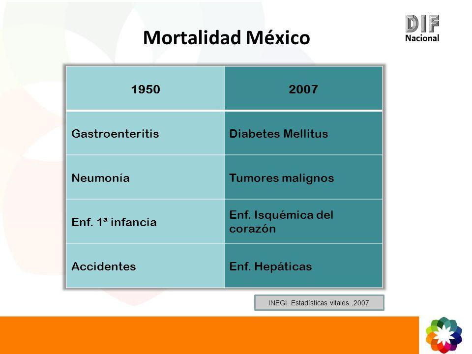 INEGI. Estadísticas vitales ,2007