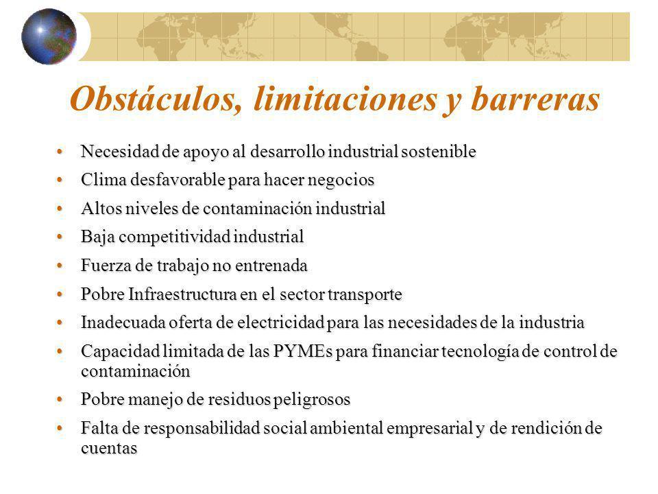 Obstáculos, limitaciones y barreras