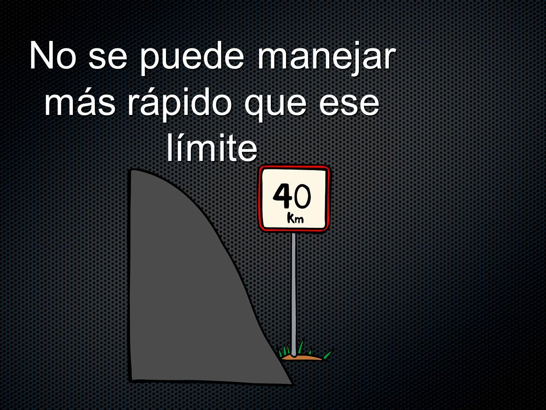 No se puede manejar más rápido que ese límite