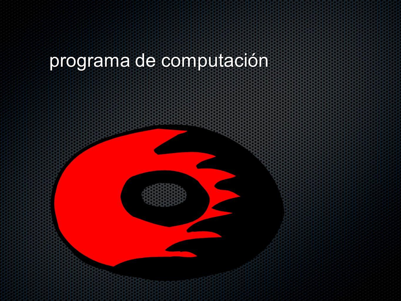 programa de computación