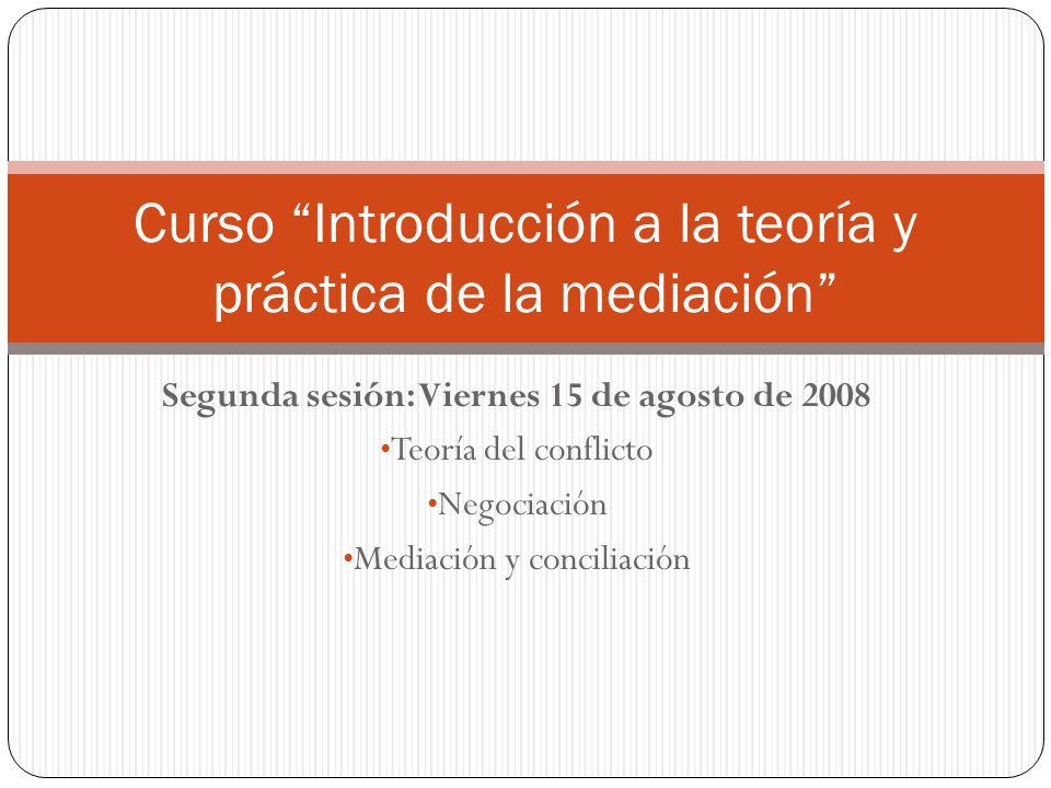 Curso Introducción a la teoría y práctica de la mediación