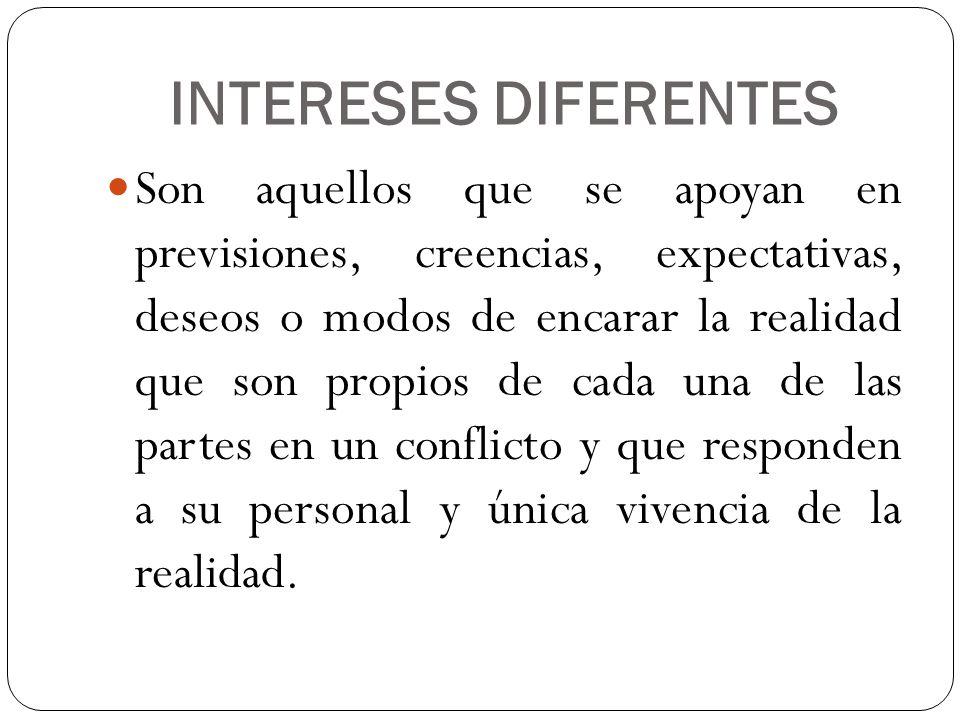 INTERESES DIFERENTES