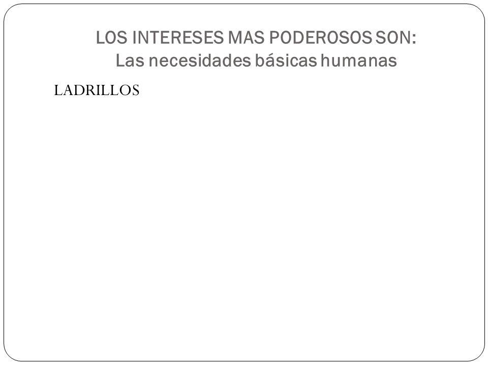 LOS INTERESES MAS PODEROSOS SON: Las necesidades básicas humanas